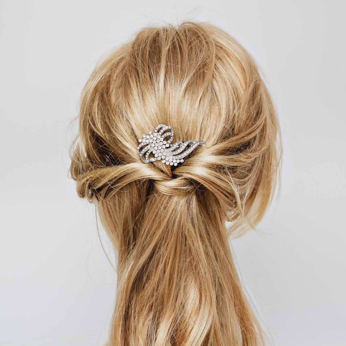 kryształowy grzebyk ślubny, kryształowe dodatki ślubne, grzebyk do włosów, biżuteria ślubna, sklep, online
