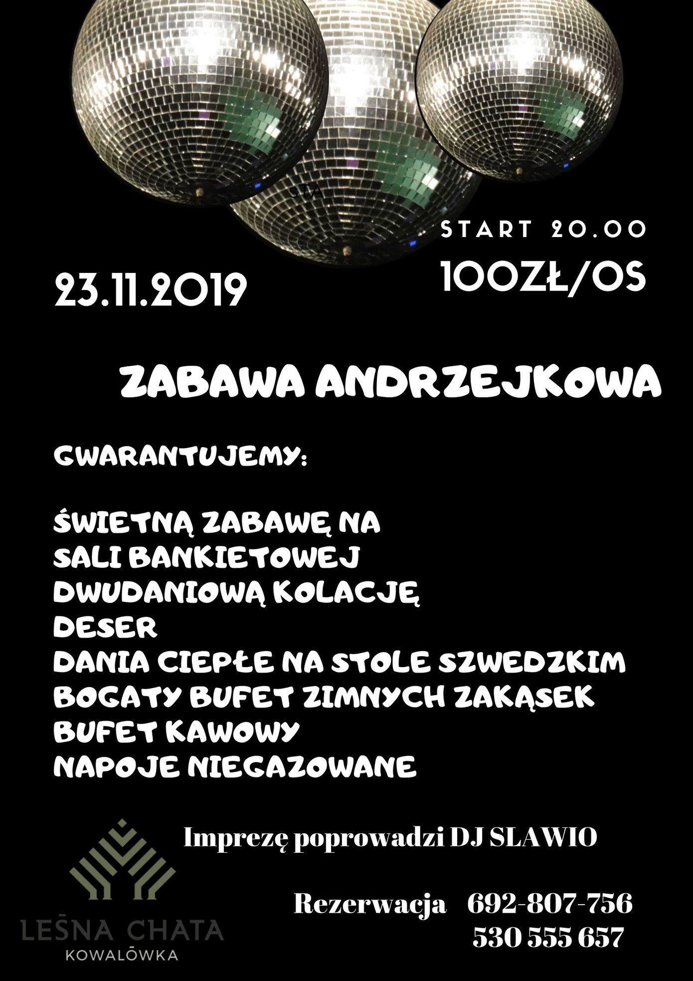 Andrzejki 2019 Leśna Chata Cieszanów Kowalówka