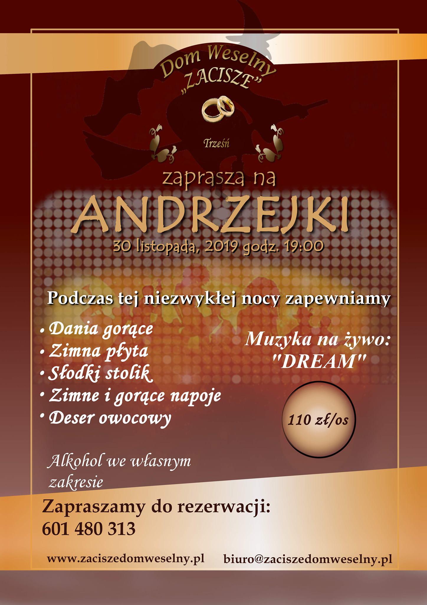 Dom Weselny Zacisze Andrzejki 2019